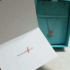 Authentic Tiffany & Co. Pink mini heart necklace